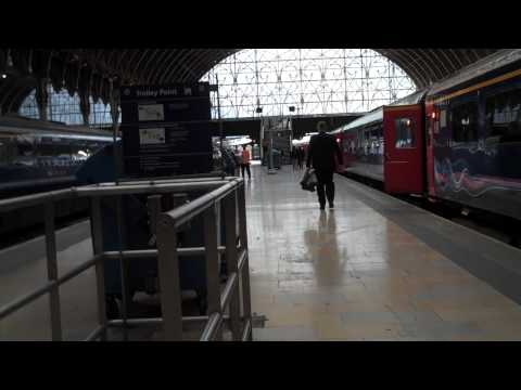 Walking through Paddington Station