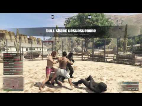 GTA 5 moments, CAGE FIGHTING !!!