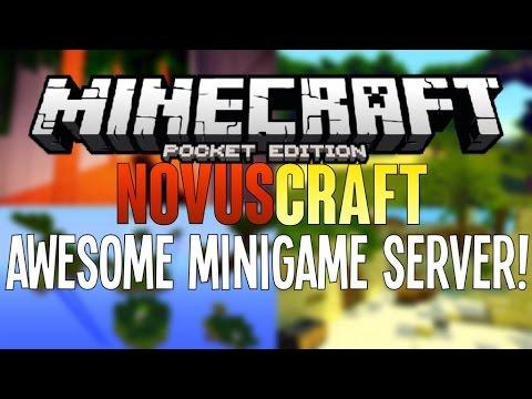 AWESOME MINI-GAME SERVER FOR MCPE NovusCraft - Minecraft PE (Pocket Edition) 0.11.0