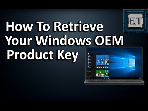 An Easy Way To Retrieve Your OEM Windows Product Key From BIOS (2018)