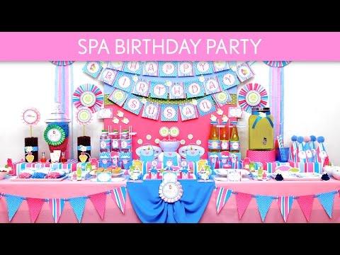 Spa Birthday Party Ideas // Spa - B133