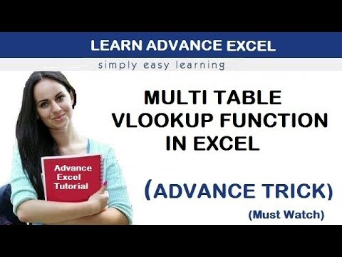 Multi Table Vlookup Function in Excel in Hindi