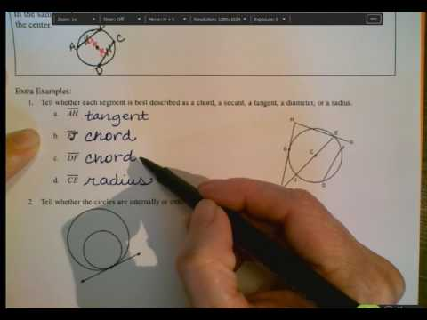 Circles, Lines & Segments Notes Part 2