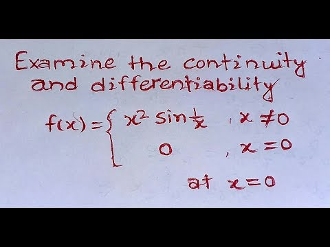continuity and differentiability of bsc part 1 maths in hindi | most expected question for 2018 exam