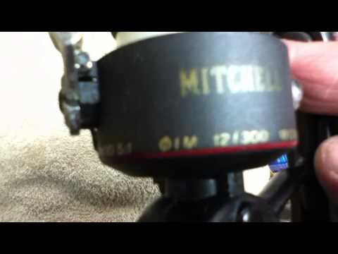SPINNING FISHING REEL MITCHELL 310 ul  Ultra Lite  Nice Big Handle Knob used