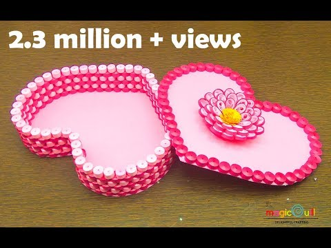 Quilling gift box ideas   DIY heart for valentine  handmade   Magic Quill