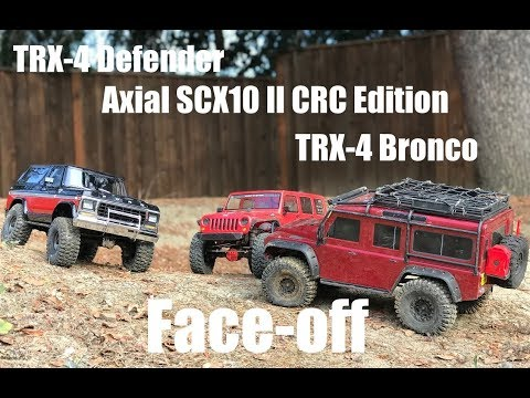 TRX-4 Defender vs Axial SCX10 II vs TRX-4 Bronco