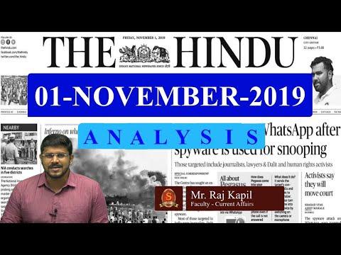 Xxx Mp4 The Hindu News Analysis 1st November 2019 Daily Current Affairs UPSC Mains Prelims 2020 3gp Sex