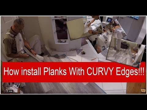 How install Vinyl Planks with Curvy Edges!!!!Home Depot (flooring)