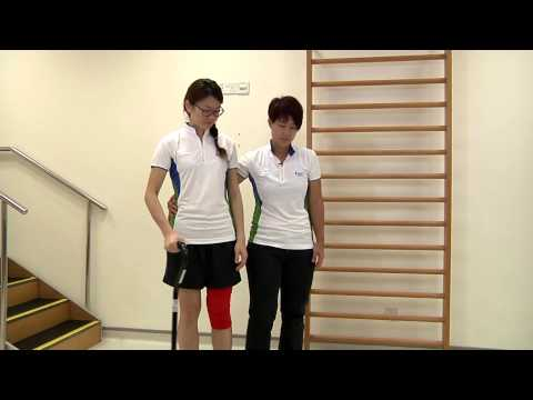 How to walk with a quadstick or walking stick