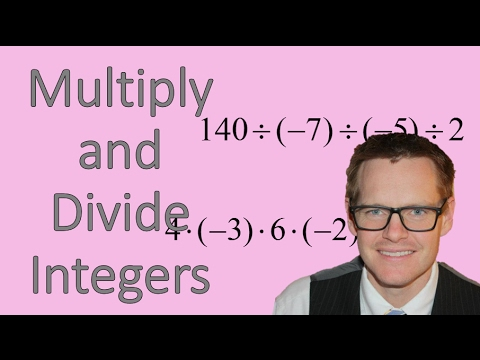 Multiply and Divide Integers (Simplifying Math)