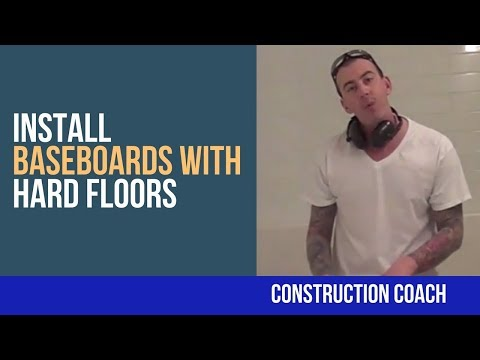 How to Install Baseboards with Hard Floors