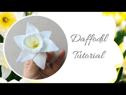 How to make a DAFFODIL flower from sugarpaste | Ilona Deakin at Tiers Of Happiness