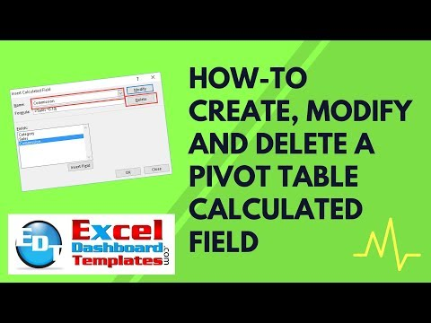 How-to Create Modify and Delete an Excel Pivot Table Calculated Field