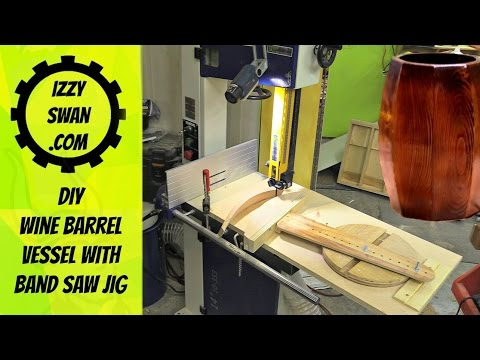 Woodworking band saw jig for making vessels | Izzy Swan