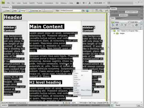 How to Use Templates in Adobe Dreamweaver CS4/CS3