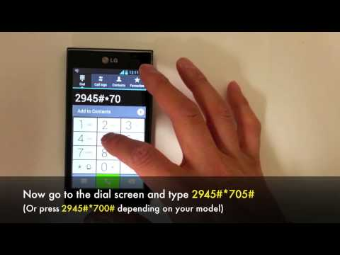 How To Unlock Lg Optimus L7 P705 P700 Network In 5 Minutes For Rogers
