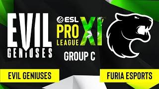 CSGO Evil Geniuses Vs FURIA Esports Mirage Map 1 ESL Pro League Season 11 Group C