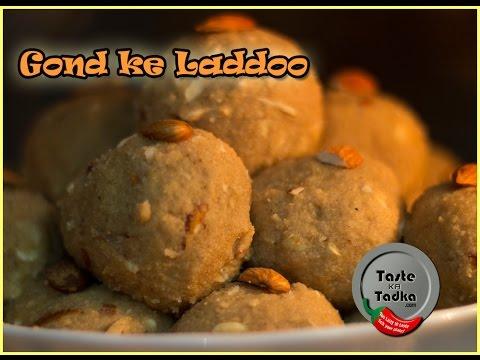 Gond ke laddu Recipe   Gum or Gond ke ladoo - Healthy and Delicious [ English Subtitles]