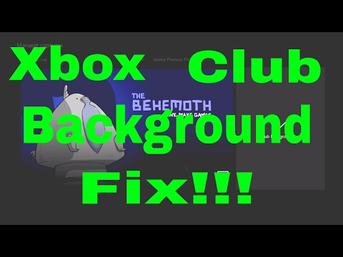 Xbox one club background picture how to change picture to any game you want