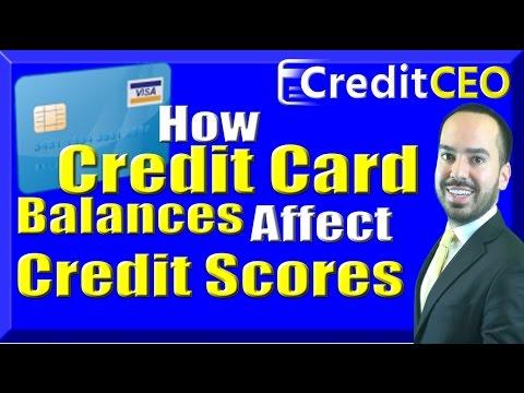 How Credit Card Balances Affect Credit Scores