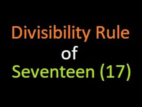 Divisibility Rule of 17 | Check divisibility by 17 | Bank PO | IBPS | SSC