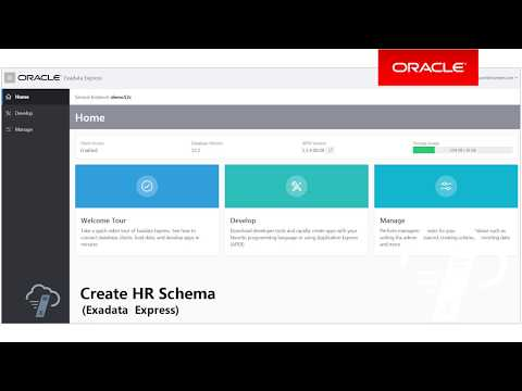 Create an HR Schema (Exadata Express)