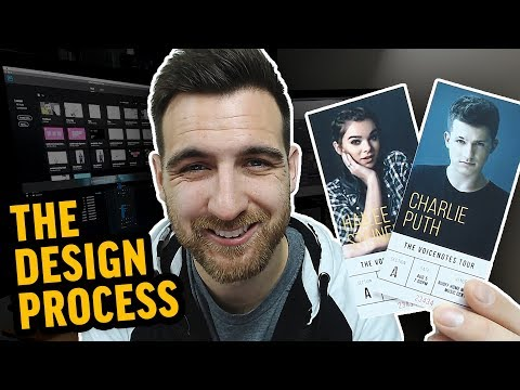 Fake Charlie Puth Concert Tickets | Graphic Design Process