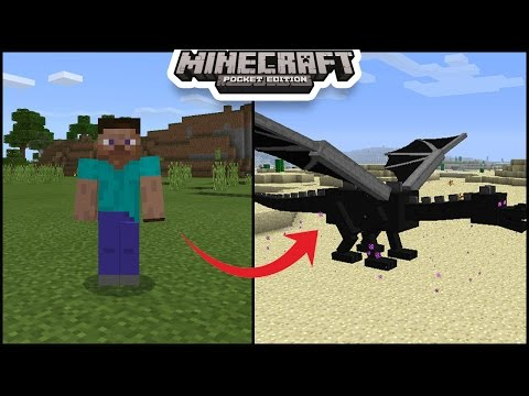 Use Command Block To Turn Into Any Mob in minecraft pe | mcpe ( pocket edition ) morph shape shifter