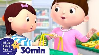 Lets Go SHOPPING Song! +More Nursery Rhymes and Kids Songs - ABCs and 123s | Little Baby Bum