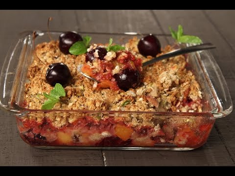 Fruit Nut Crumble | Not So Junky - by Chef Siddharth | Sanjeev Kapoor Khazana