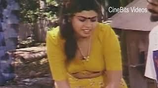 Actress Vichitra hot boob show and cleavage while washing cloths