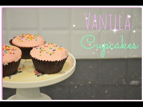 Easy Vanilla Cupcake Recipe | Simple vanilla cupcakes for beginners