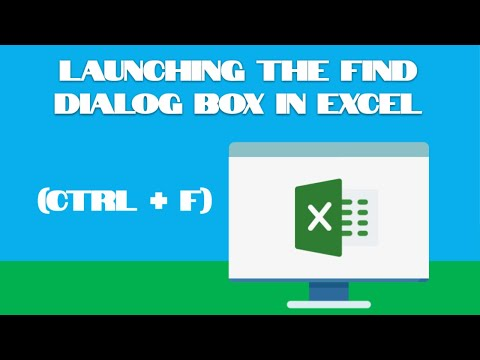 Excel Tutorial #160:  Launching the Find Dialog Box (Ctrl + F)