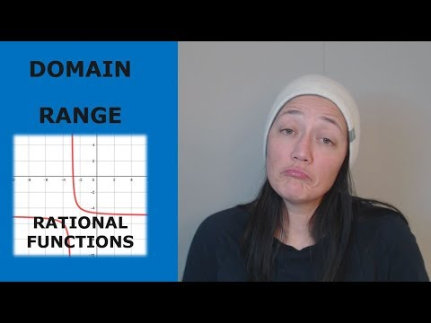 How to find the domain and range of rational functions