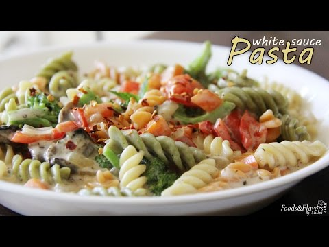 Pasta in White sauce | Cheesy vegetable Pasta - Easy kids snacks/lunch box/ breakfast Recipes