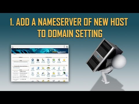 Add a Nameserver of new host to Domain Setting | Step by Step Host to host migration part 1