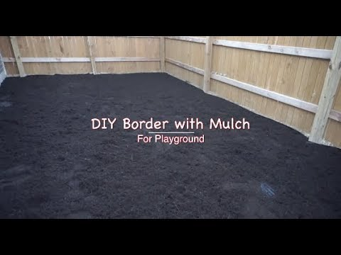 DIY Border with Mulch for Playground Area