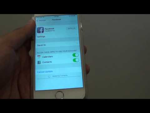 iPhone 6: How to Sync Facebook Contacts to Contacts App