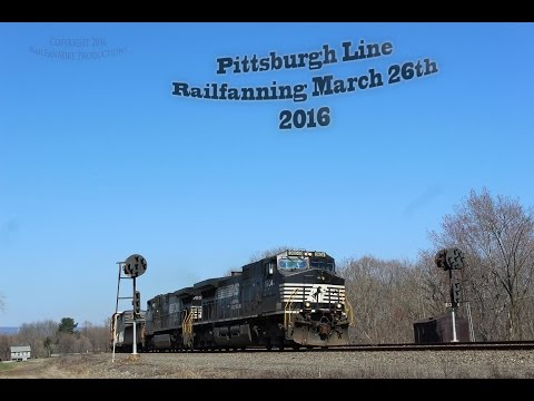 Pittsburgh Line Railfanning March 26th; 2016