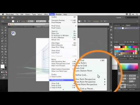 Illustrator CS6 105: 3D: Create 3D Objects - 17. Introduction to Perspective Tools