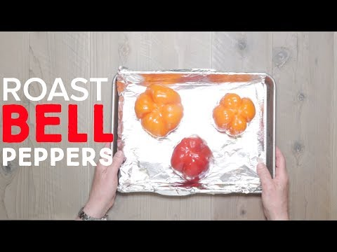 How To Roast Bell Peppers in the Oven