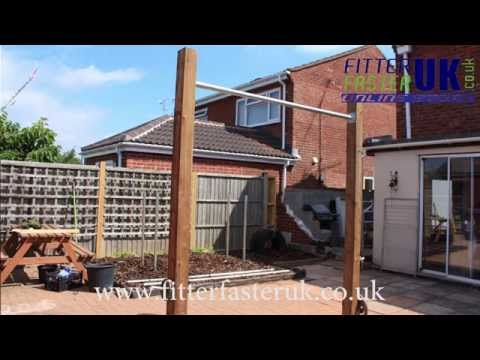 How to build a pull up bar in your garden