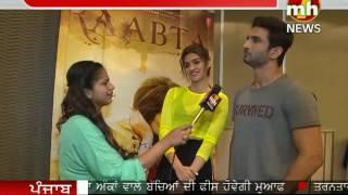 Sushant Singh Rajput and Kriti Sanon Promoting Raabta