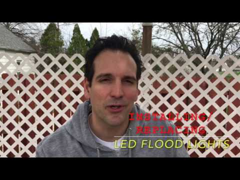 How to install a LED Motion-Activated Flood Light with Timer