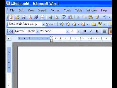 Microsoft Office Word 2003 Create a resume