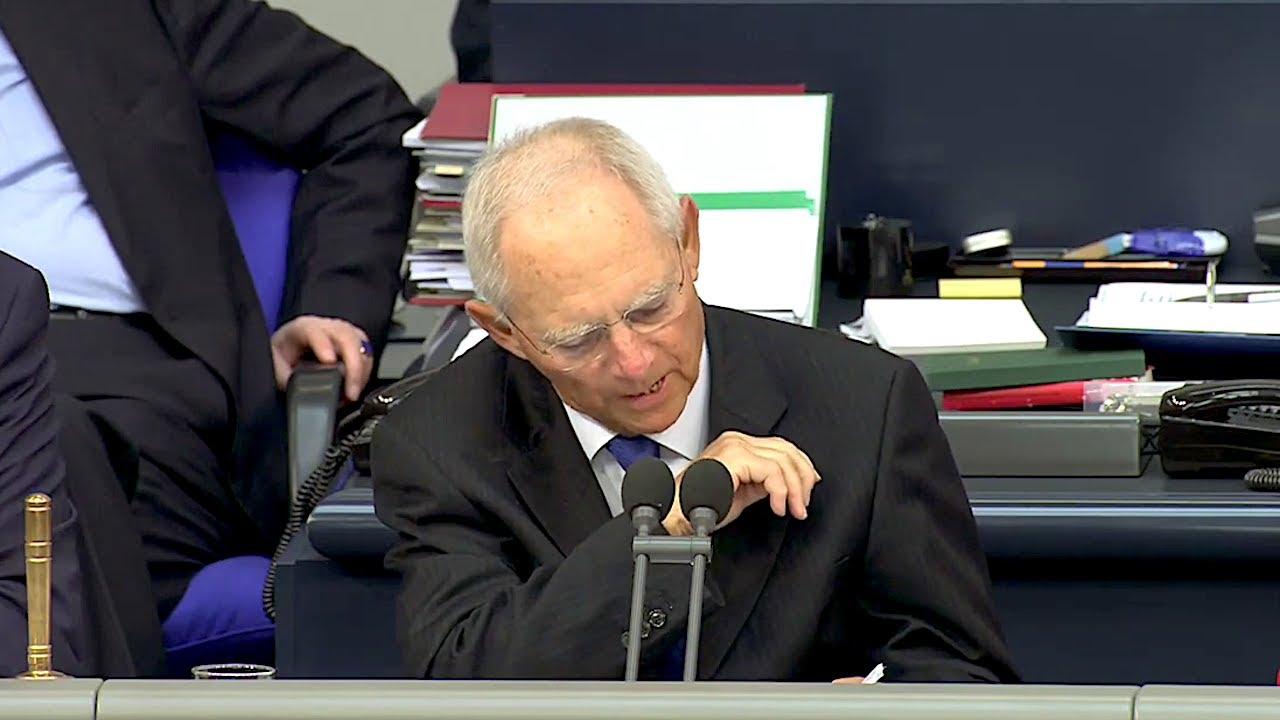 09.05.2019 - Brandner will Glas Wasser / Schäuble liest AfD Grundgesetz vor - 98. Sitzung Bundestag