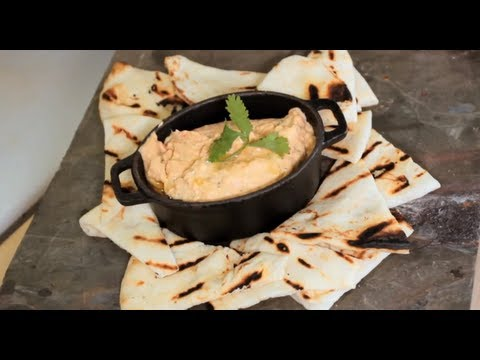 Roasted Red Pepper Hummus Recipe by Half Hour Meals
