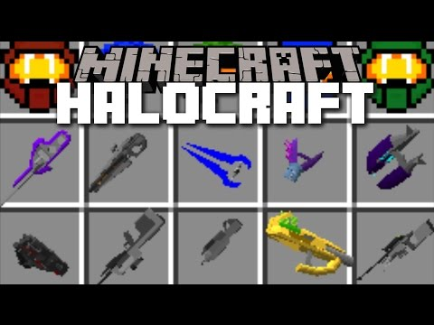 Minecraft HALO MOD / DRIVE WARTHOG'S AND SHOOT HALO WEAPONS!! Minecraft