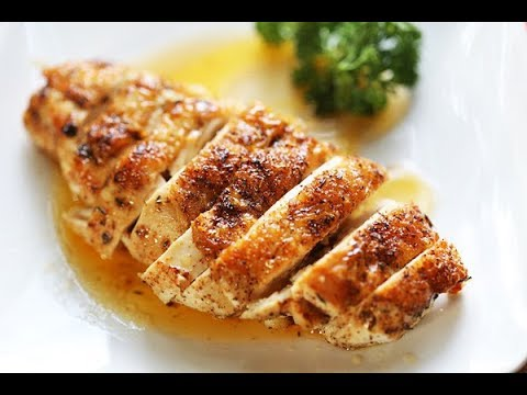 Baked skin on chicken breast